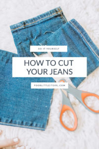 How To Cut Your Own Jeans That Are Too Long