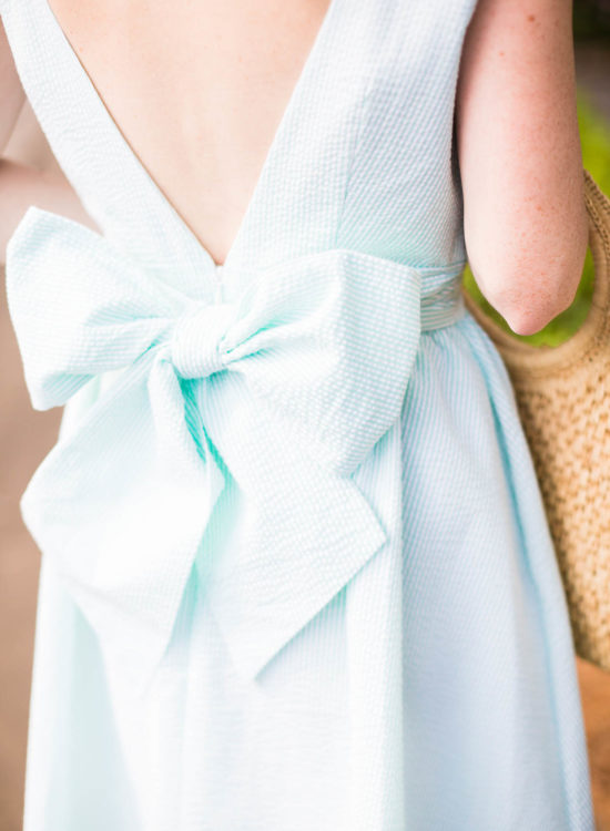 Lauren James Bow Back Seersucker Dress - Poor Little It Girl