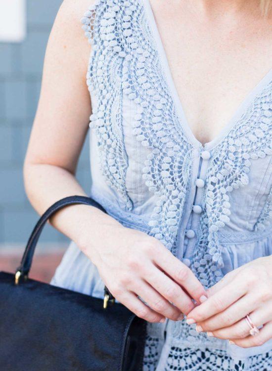 Abercrombie blue lace top.