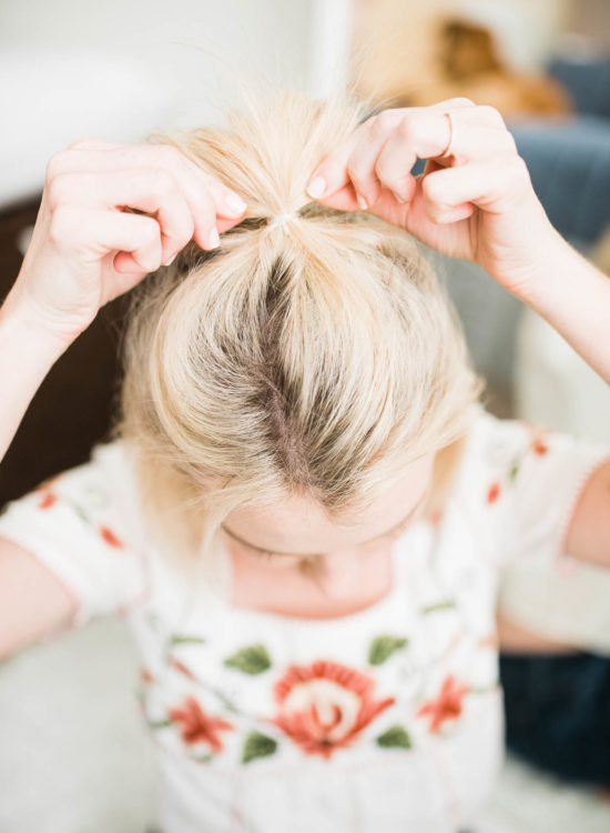 How To Do A Half Top Knot On Short Hair - Poor Little It Girl