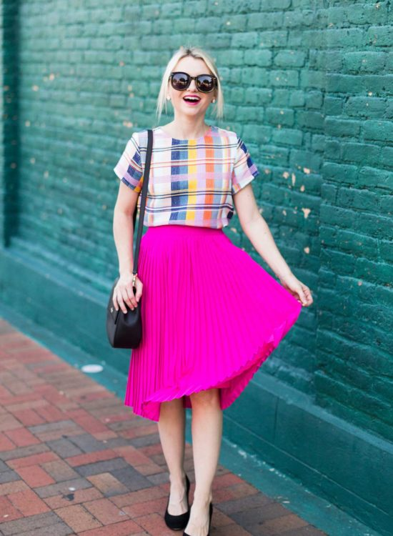 How To Wear Bold Color At The Office - Poor Little It Girl