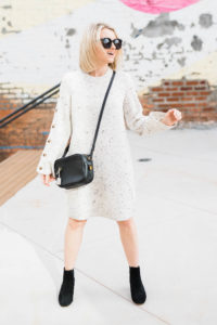 How To Wear A Sweater Dress With Boots