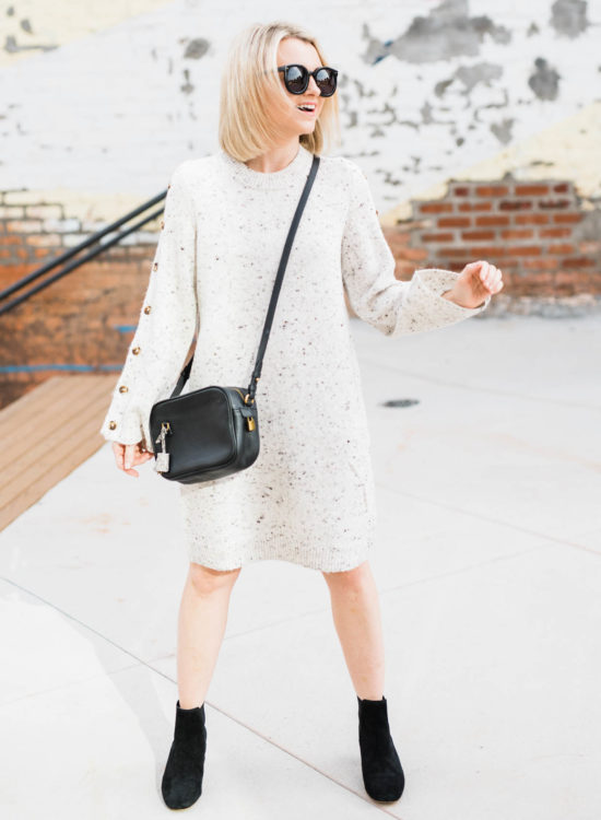 How To Wear A Sweater Dress With Boots - Poor Little It Girl